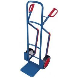 Wózek taczkowy stalowy z płozami sk-710.006 250kg koła fi250 pełna guma łożyska kulkowe