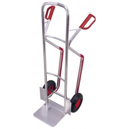 Wózek taczkowy aluminiowy z płozami ap-710.005 200kg koła fi 260PN felga metal łożyska kulkowe