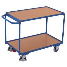 Wózek stołowy 2 powierzchnie 835x495mm sw-500.501 250kg koła fi 125 łożyska kulkowe