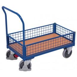 Wózek skrzyniowy osiatkowany 121x75cm sw-800.457 500kg koła fi 200 pełna guma łożyska kulkowe