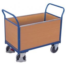 Wózek skrzyniowy 100x65cm sw-700.400 500kg koła fi 200 pełna guma łożyska kulkowe