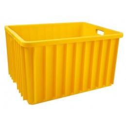 Pojemnik magazynowy pełny 800x600x450mm 150L żółty