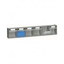 Zestaw 6 pojemników PRACTIBOX FPG1571 0101 600x98x112mm