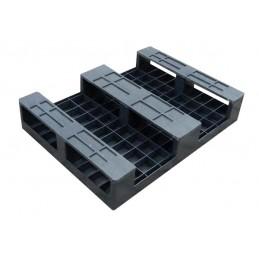 Półpaleta plastikowa 800x600x150 mm czarna antypoślizgowa