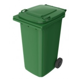 Kosz na śmieci Pojemnik na odpady 240 litrów PE-240 (P011A) zielony 1100 x 580 x 740 mm