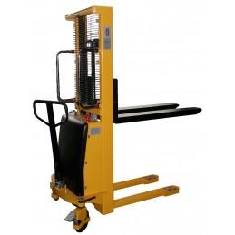 Wózek masztowy podnośnikowy elektryczne podnoszenie SPN1030 1000kg H-3000mm L-1100mm B-550mm 150Ah PTP żółty