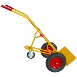 Wózek do beczek WRN1-025/71 250kg koła fi 400 i fi 160 żółty ZAKREM