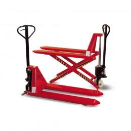 Wózek paletowy nożycowy WRP3-1001 1000kg H-810mm L-1150mm B-520mm PSP pomarańczowy ZAKREM