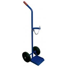 Wózek do butli tlenowej 10 litrów 2K SPW4 50kg koła fi 200 pełna guma felga plastyk łożyska wałeczkowe - szpitalny