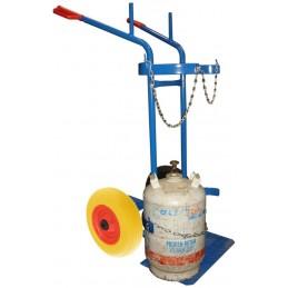 Wózek do dwóch butli 2K SPW3/d 400kg koła fi 400PU piankowe felga stalowa łożyska kulkowe